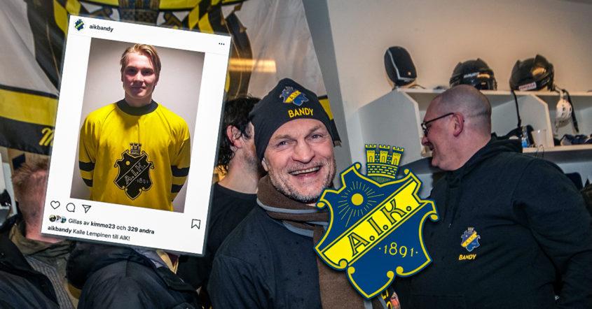 Kalle Lempinen, AIK, finsk landslagsman, nyförvärv