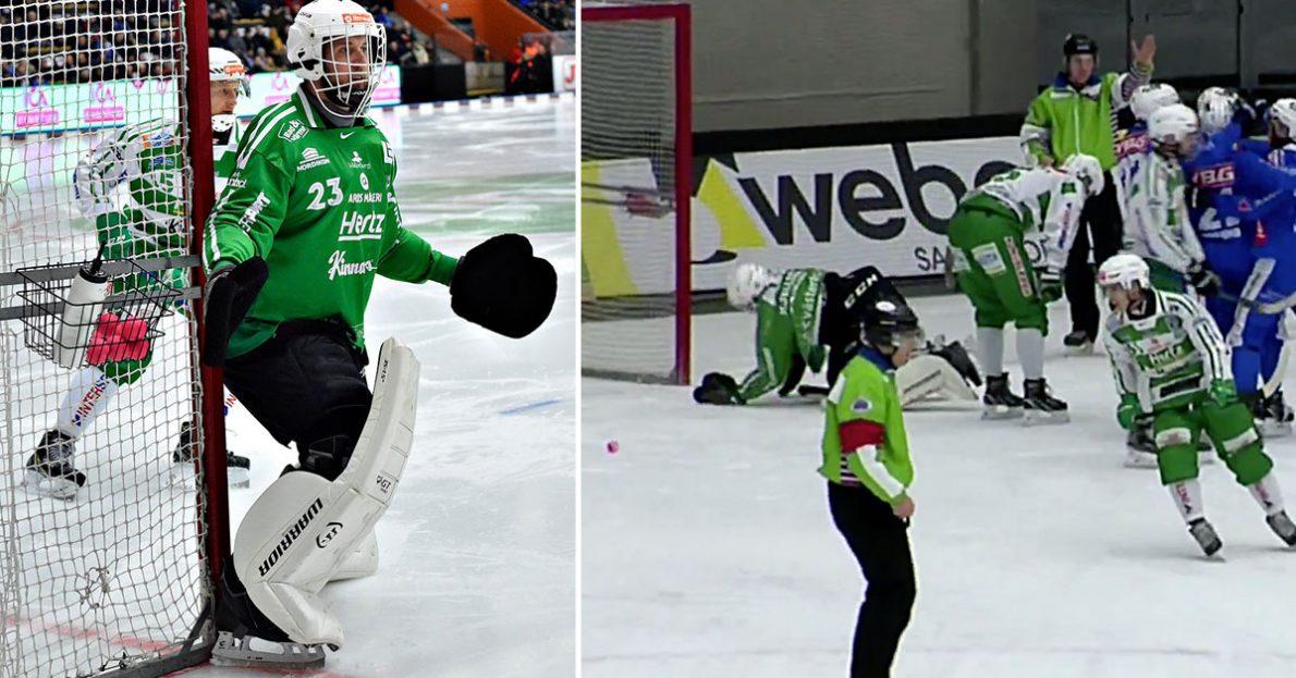 Henrik Kjellsson, VSK-målvakten, VSK, Västerås, tappade poäng i slutskedet, Kjellsson