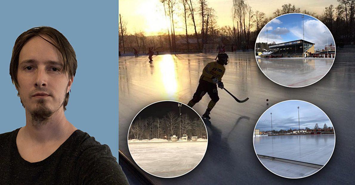 Konstfrusen is, Krillans IP, Danfo arena, Nitro/Nora, Västanfors IP,