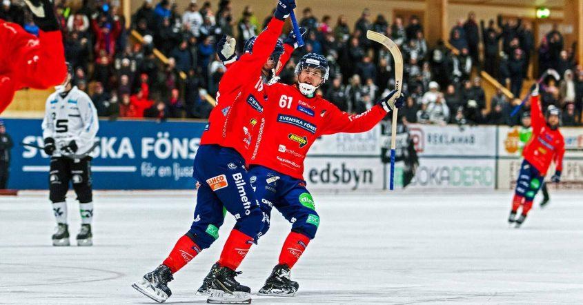Edsbyn tog kommandot i semifinalen, Edsbyn Sandviken, Sandviken, SAIK, Simon Jansson, Jansson.