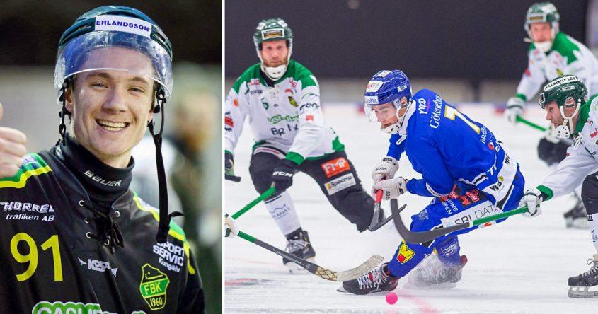 Adrian Emretsson, Frillesås, Villa, träningsmatch, bandy