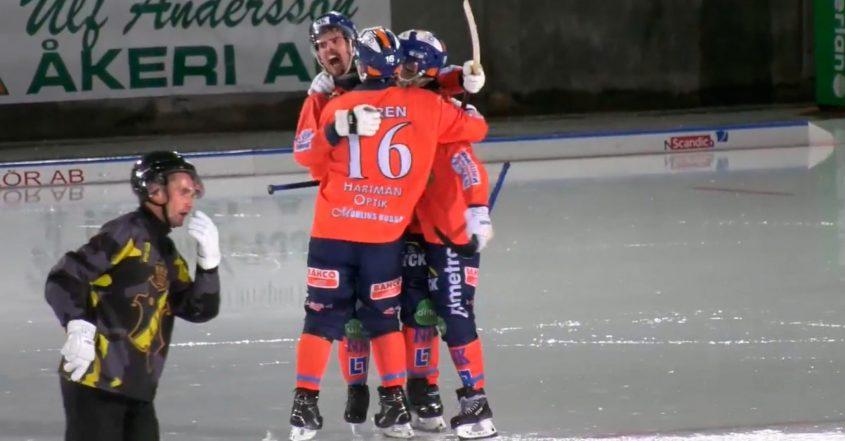 Bollnäs bandy, Bollnäs, bandy, oavgjort resultat mot AIK, AIK, blöt tillställning.